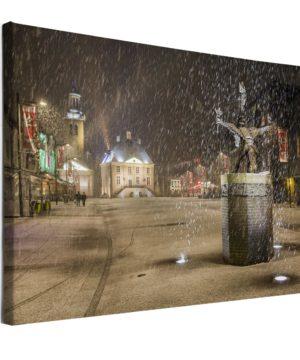 Voorbeeld canvasdoek: Tullepetaone in de sneeuw