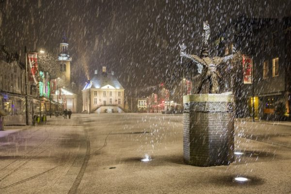 Tullepetaon in de sneeuw