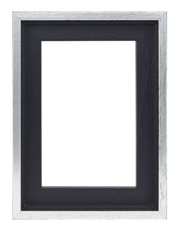 Houten baklijst Zwart / zilver - 10mm
