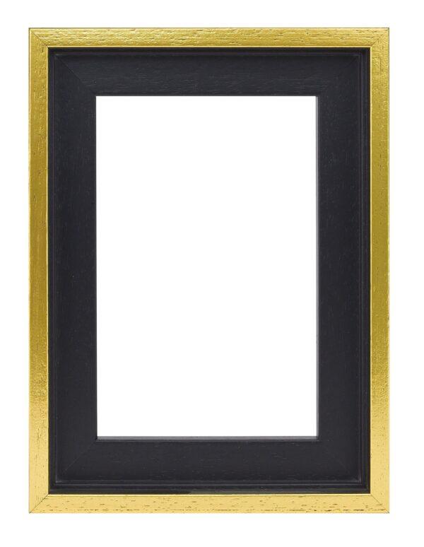 Houten baklijst Zwart / goud - 10mm