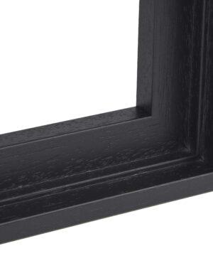 Houten baklijst Zwart ingewassen - 10mm